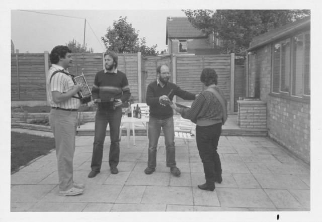 Tony Burt, John Sullivan, John Davis, Maryse Burt