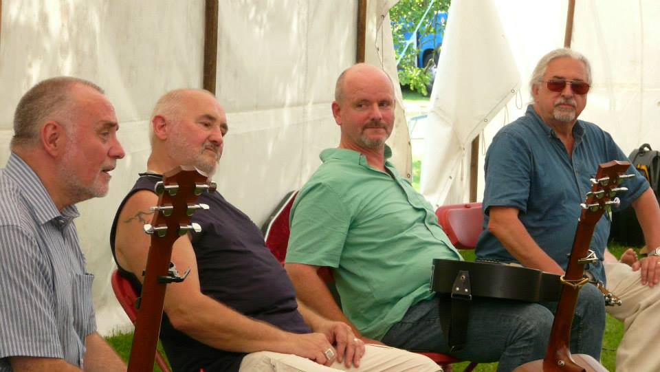 Writers' Forum at Bromsgrove Folk Festival 2014 - John Francis Connor, Mike Silver, Anthony John Clarke, Tony Burt